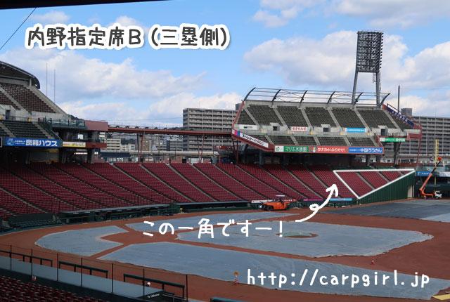 マツダスタジアム 内野指定席B