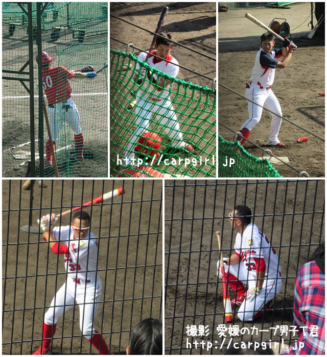 カープ 日南キャンプ 菊池選手