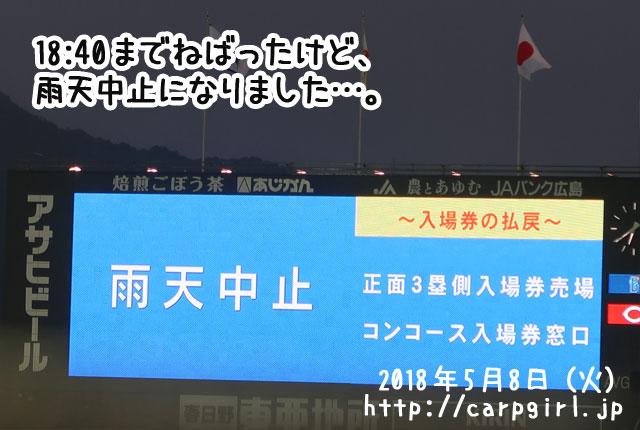 マツダスタジアム 雨天中止