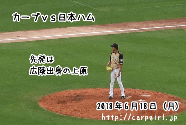 日本ハム 上原投手