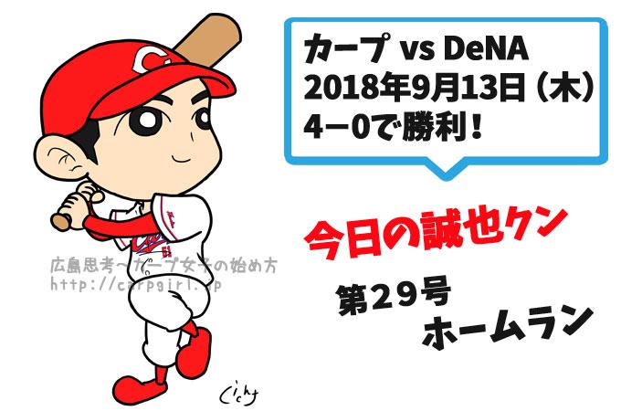 誠也29号ホームランでDeNAに勝利