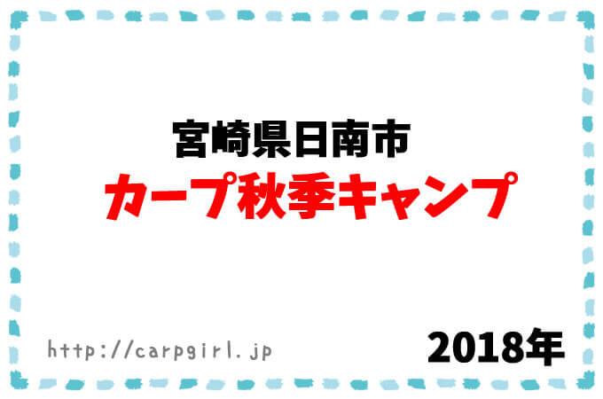 カープ秋季キャンプ 2018年
