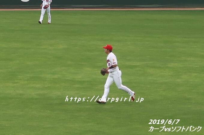 カープvsソフトバンク 20190607 野間選手