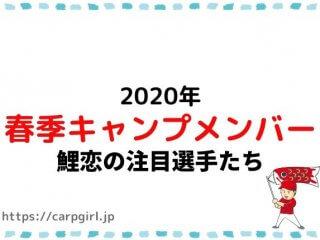 カープ春季キャンプ2020年注目選手