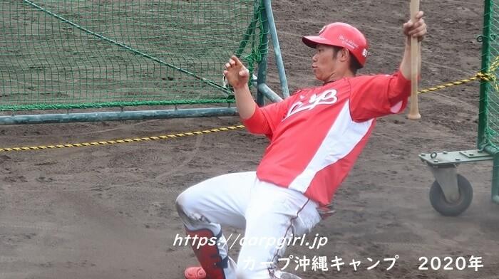 カープ沖縄キャンプ2020 坂倉将吾